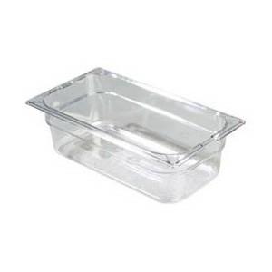 Πλαστικό δοχεία φαγητού Carlisle Top Notch® 1/3GN Clear από