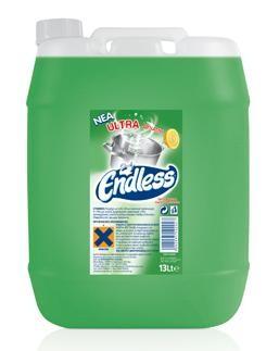 Υγρό πιάτων Endless Ultra Lemon 13L