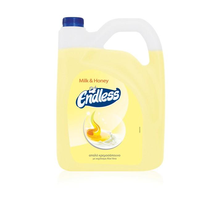 """Υγρό σαπούνι Endless """"MILK&HONEY"""" 4 λίτρα"""