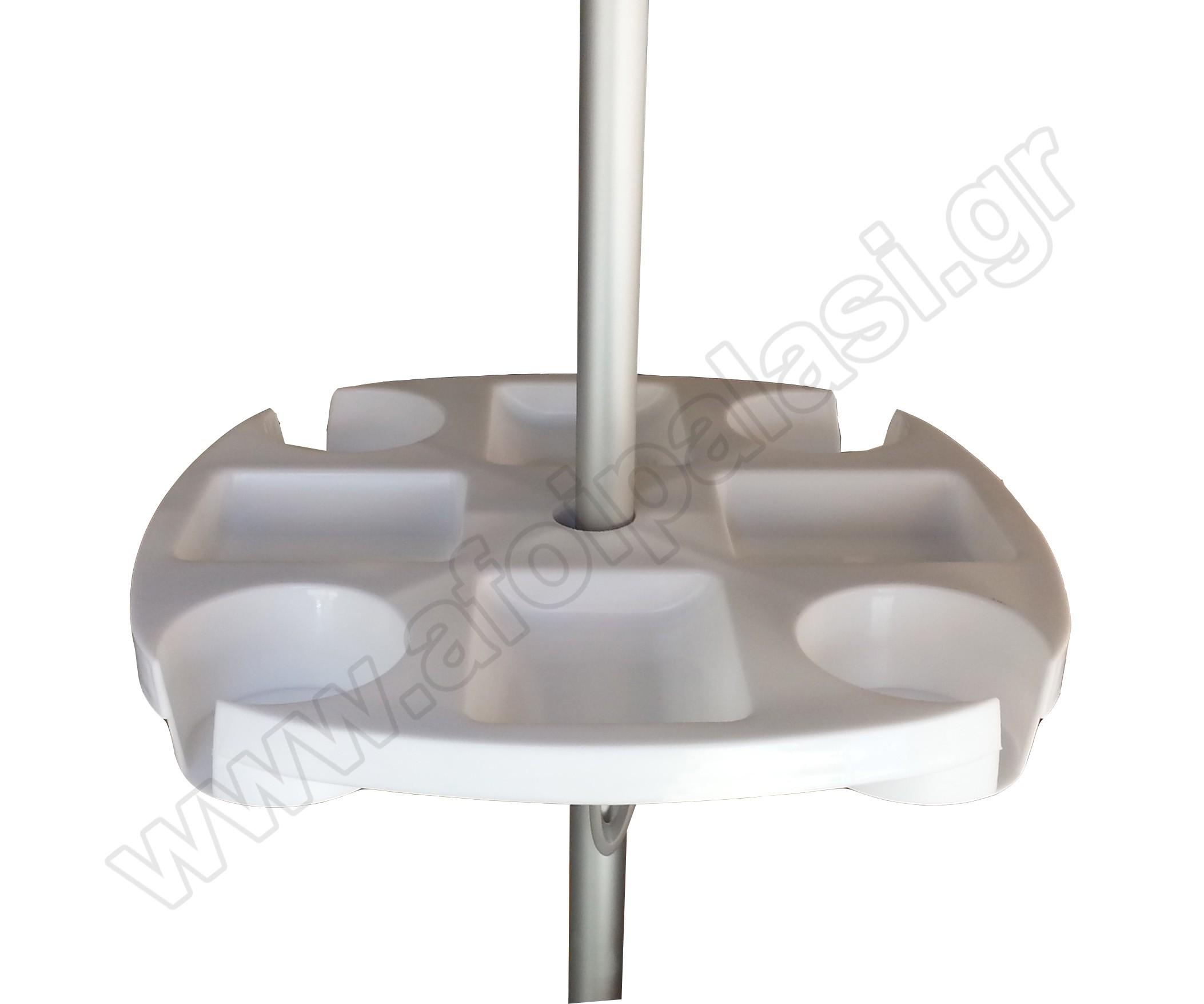 Τραπέζι για ομπρέλα παραλίας 43x43cm