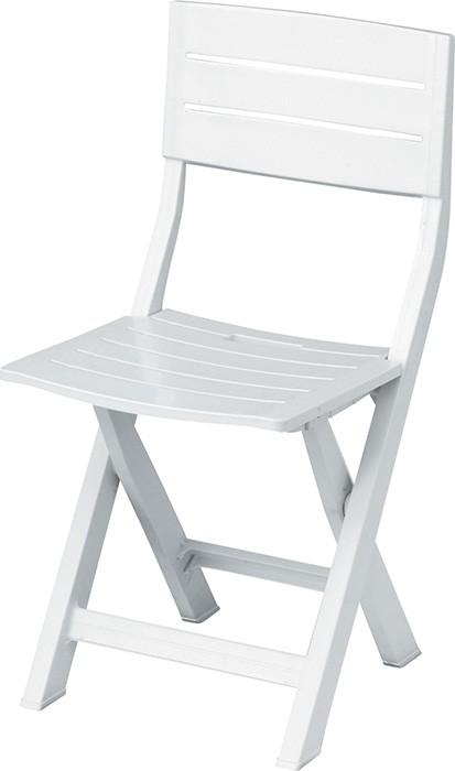Πτυσσόμενη πλαστική καρέκλα Siesta Nilufer Λευκή