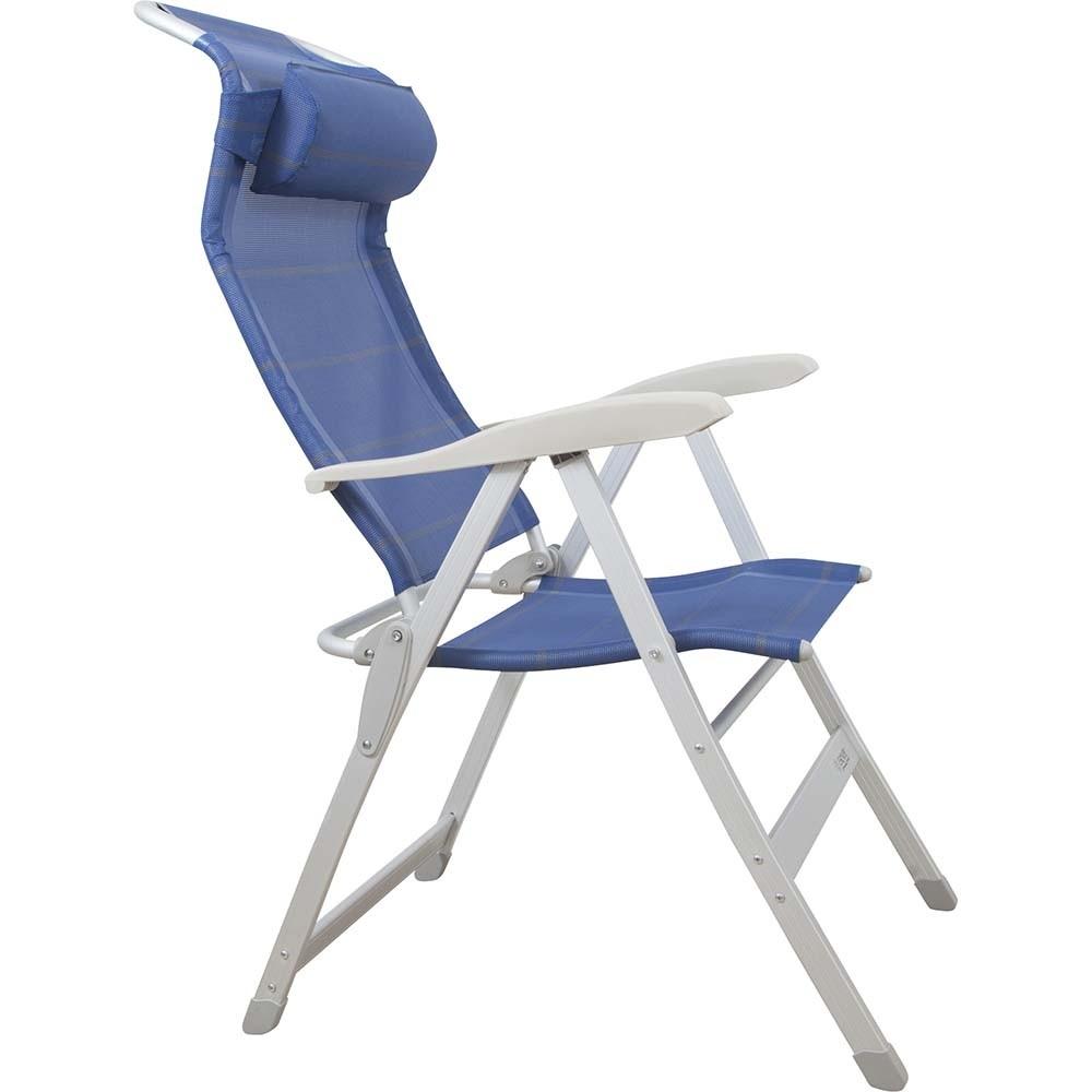 Πτυσσόμενη καρέκλα αλουμινίουμε 7 θέσεις και ψηλή πλάτη 120kg Escape 15913
