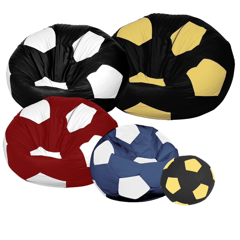 Κάθισμα πουφ μπάλα Ποδοσφαίρου με Δερματίνη από