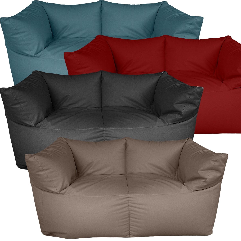 Διθέσιος καναπές πουφ Corner με Δερματίνη μονόχρωμος σε 20 χρώματα