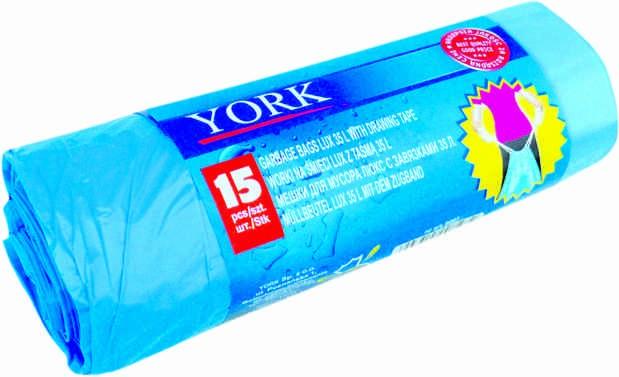 Σακούλες με κορδόνι York 35 λίτρων 15 τεμάχια
