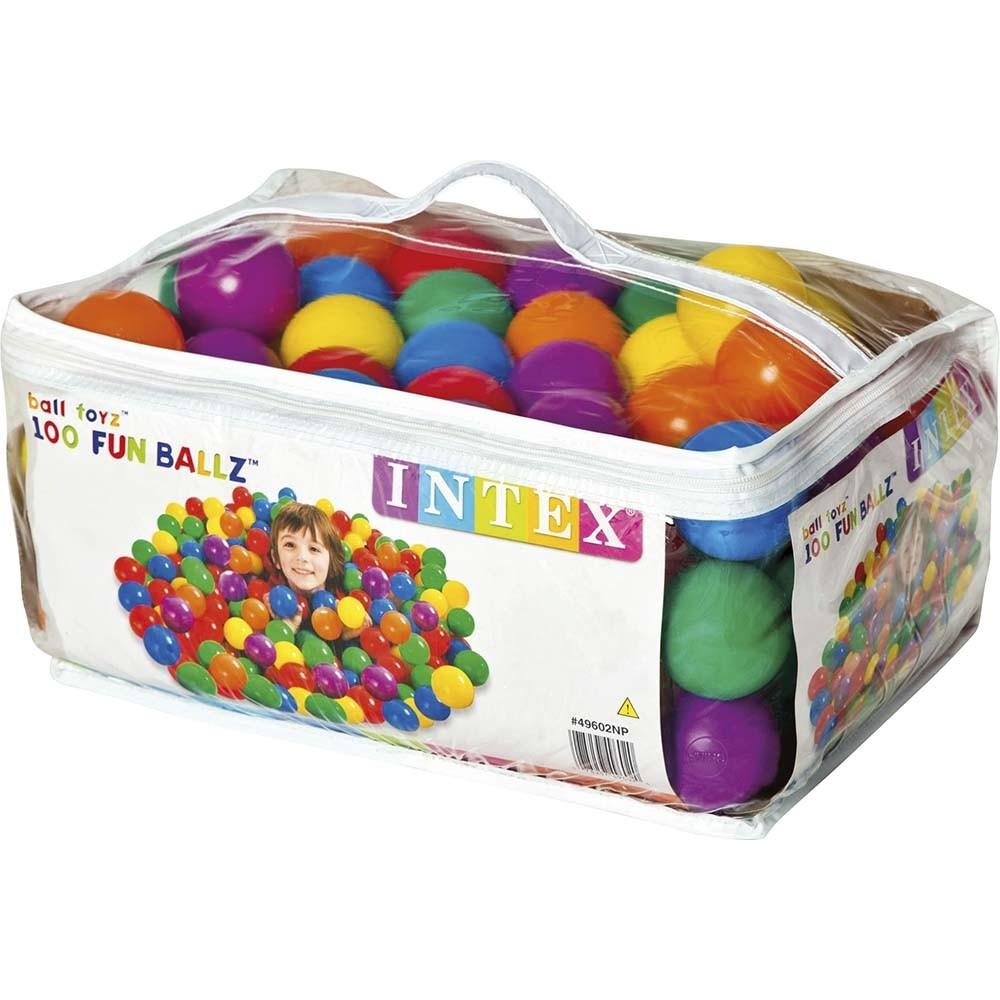 Πολύχρωμες μαλακές μπάλες για παιδότοπους Intex Small Fun Ballz Ø6,5cm 49602