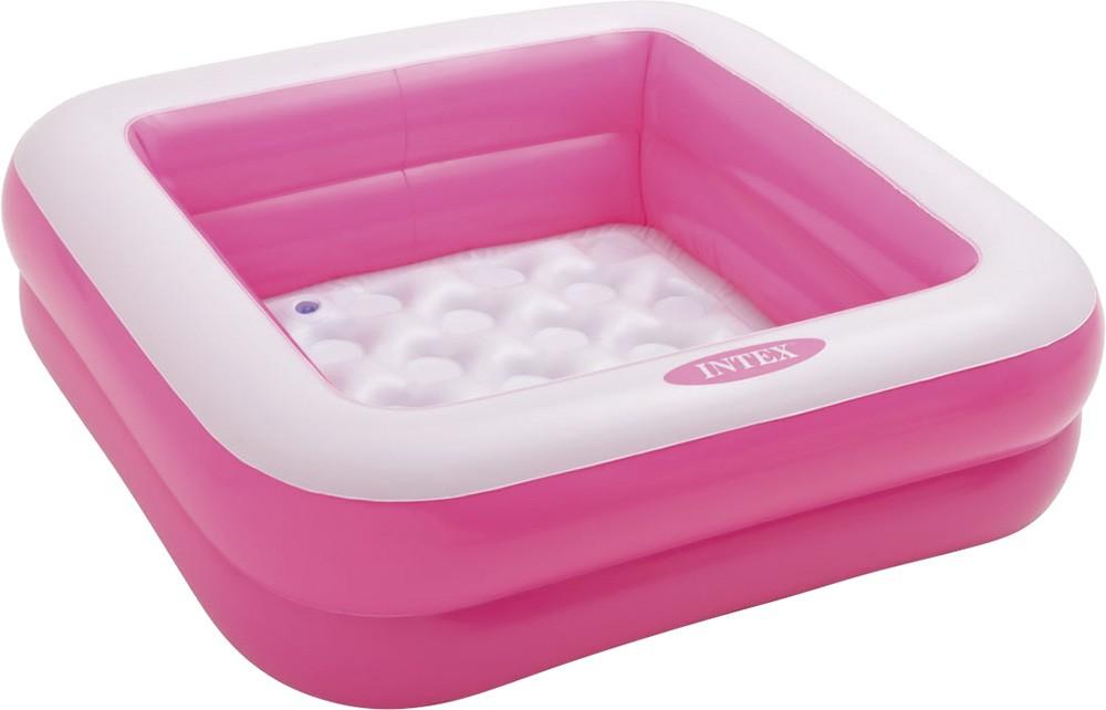 Φουσκωτή παιδική πισίνα 85x85cm Intex Play Box Ροζ 57100