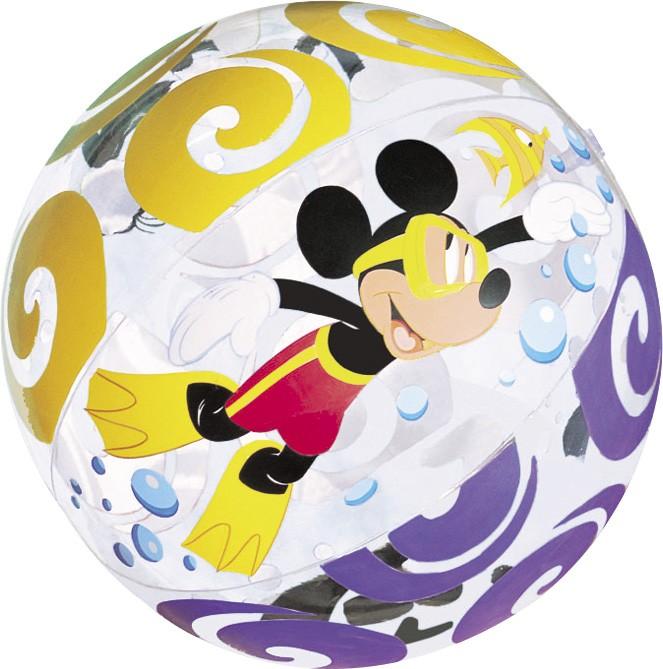 Φουσκωτή μπάλα Intex Disney Mickey and Friends Transparent Ø61cm - 58055