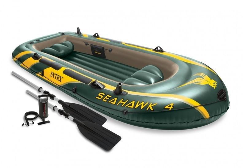 Φουσκωτή βάρκα Intex Sport series Seahawk 4 σετ με κουπιά & τρόμπα 68351