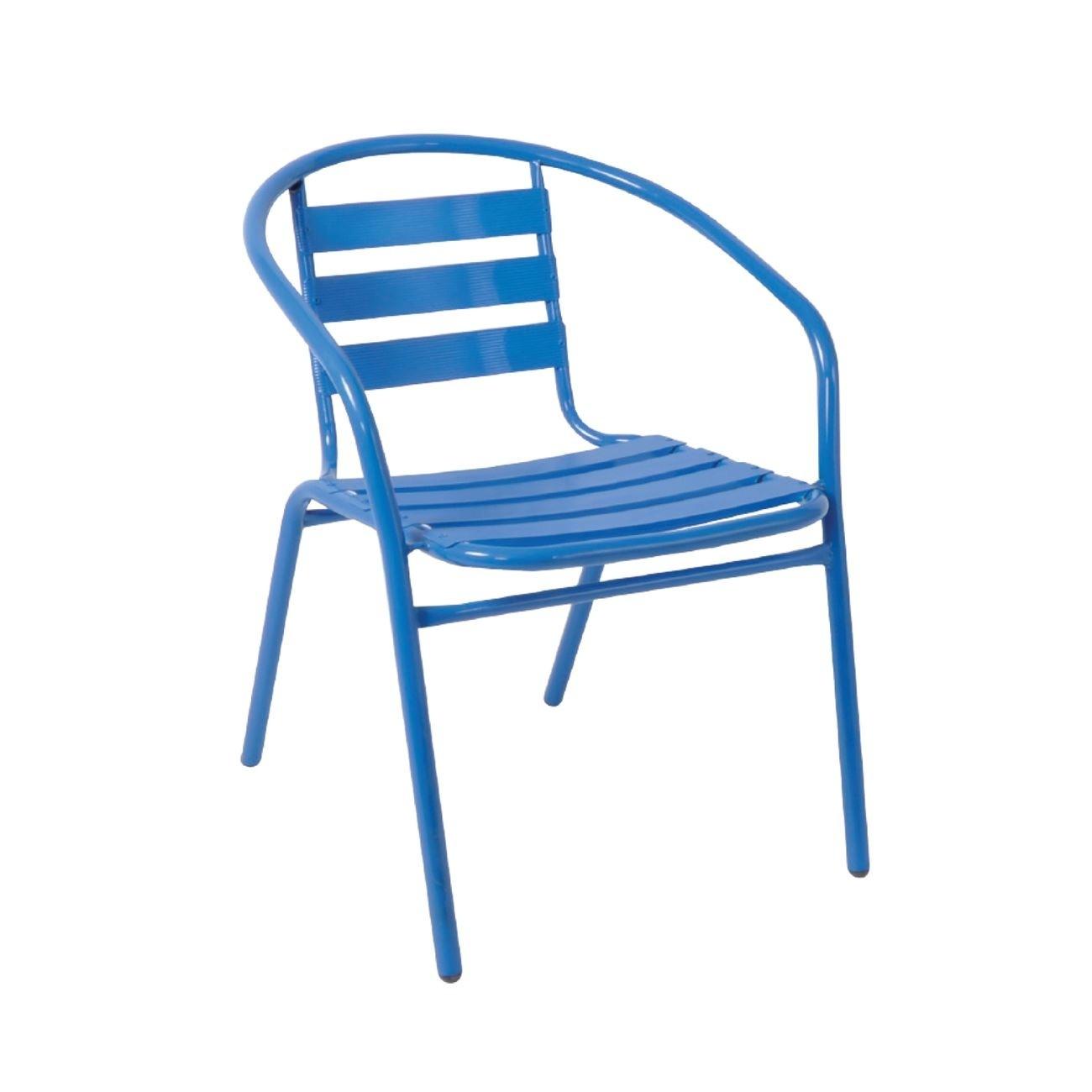 Μεταλλική Πολυθρόνα Funky Μπλε
