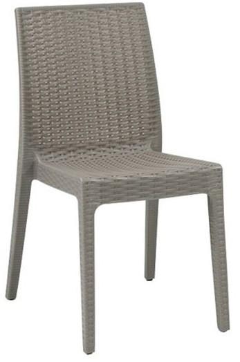 Στοιβαζόμενη πλαστική καρέκλα Areta Dafne Μπεζ Tortora