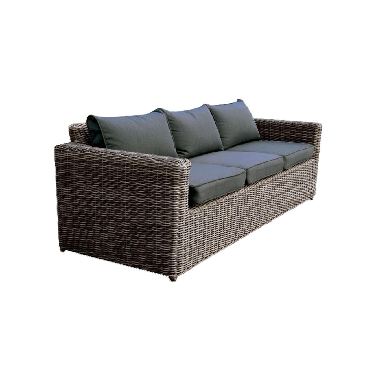 Καναπές Εξωτερικού χώρου τριθέσιος Arizona 3Θ Grey/Brown