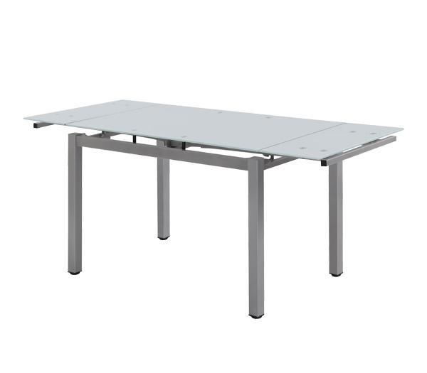 Γυάλινο τραπέζι Blossom με φύλλα επέκτασης110+(60cm) x70cm