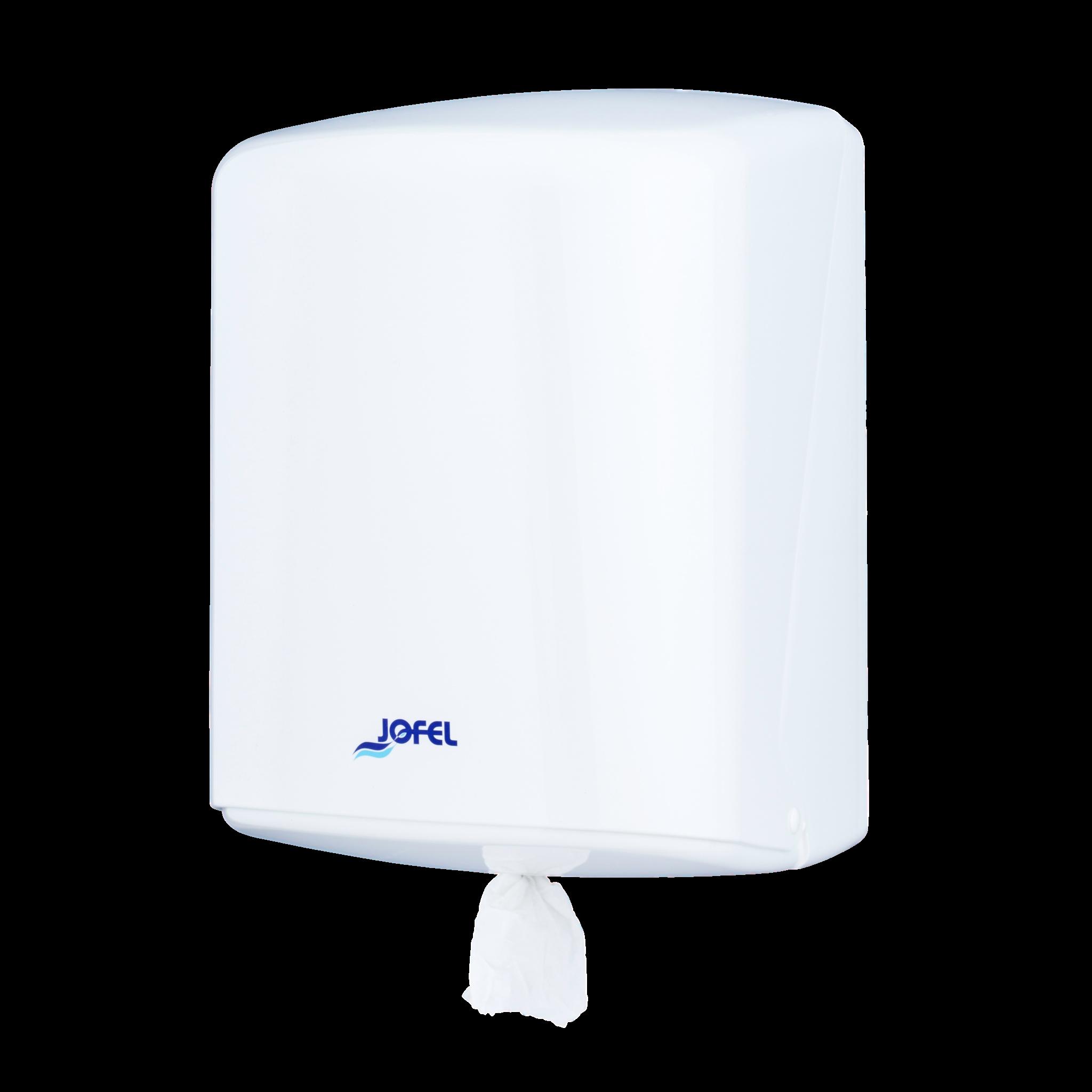 Πλαστική θήκη για ρολό Center pull Jofel Azur white AG40000