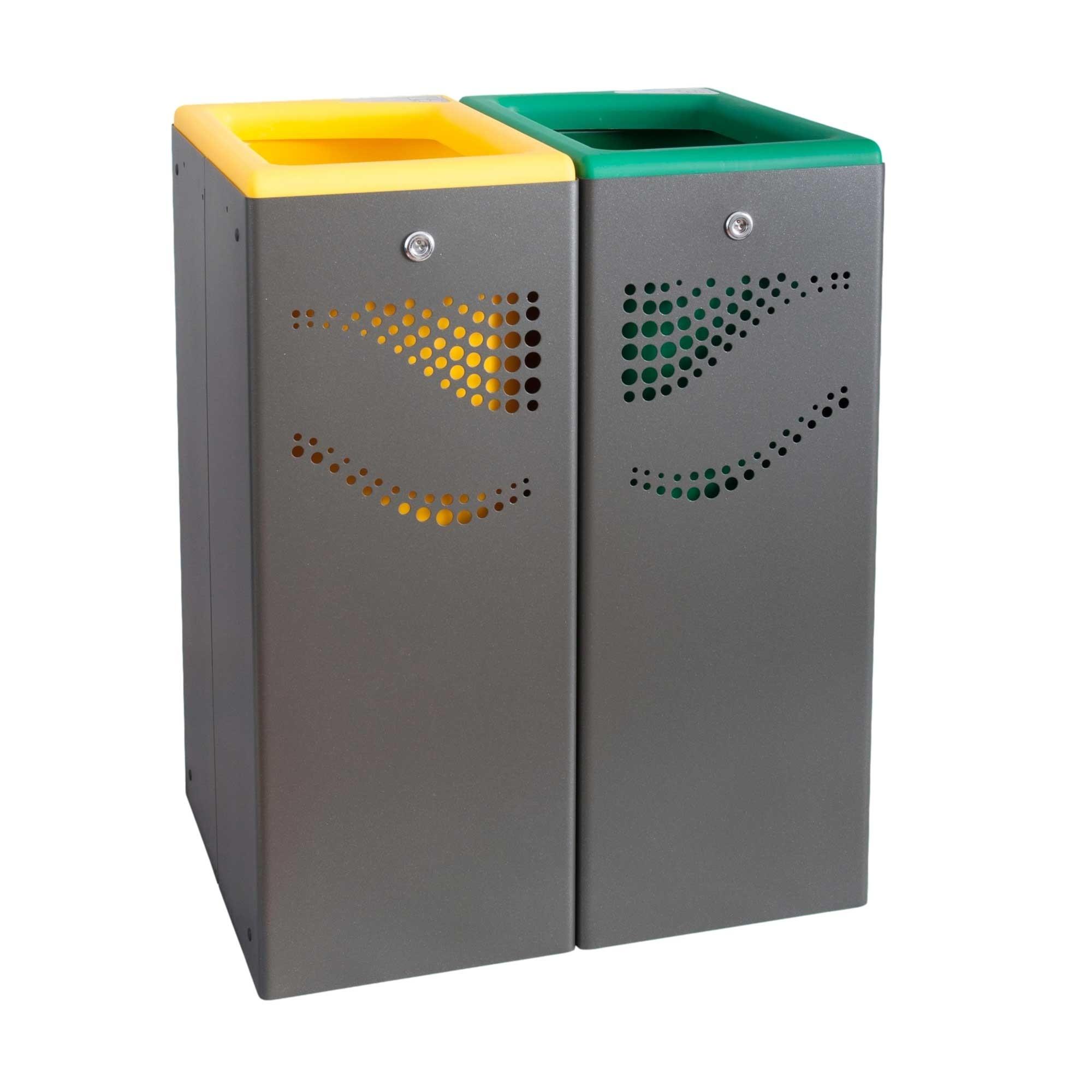 Μεταλλικός κάδος ανακύκλωσης Jofel 80lt AL707050.YG