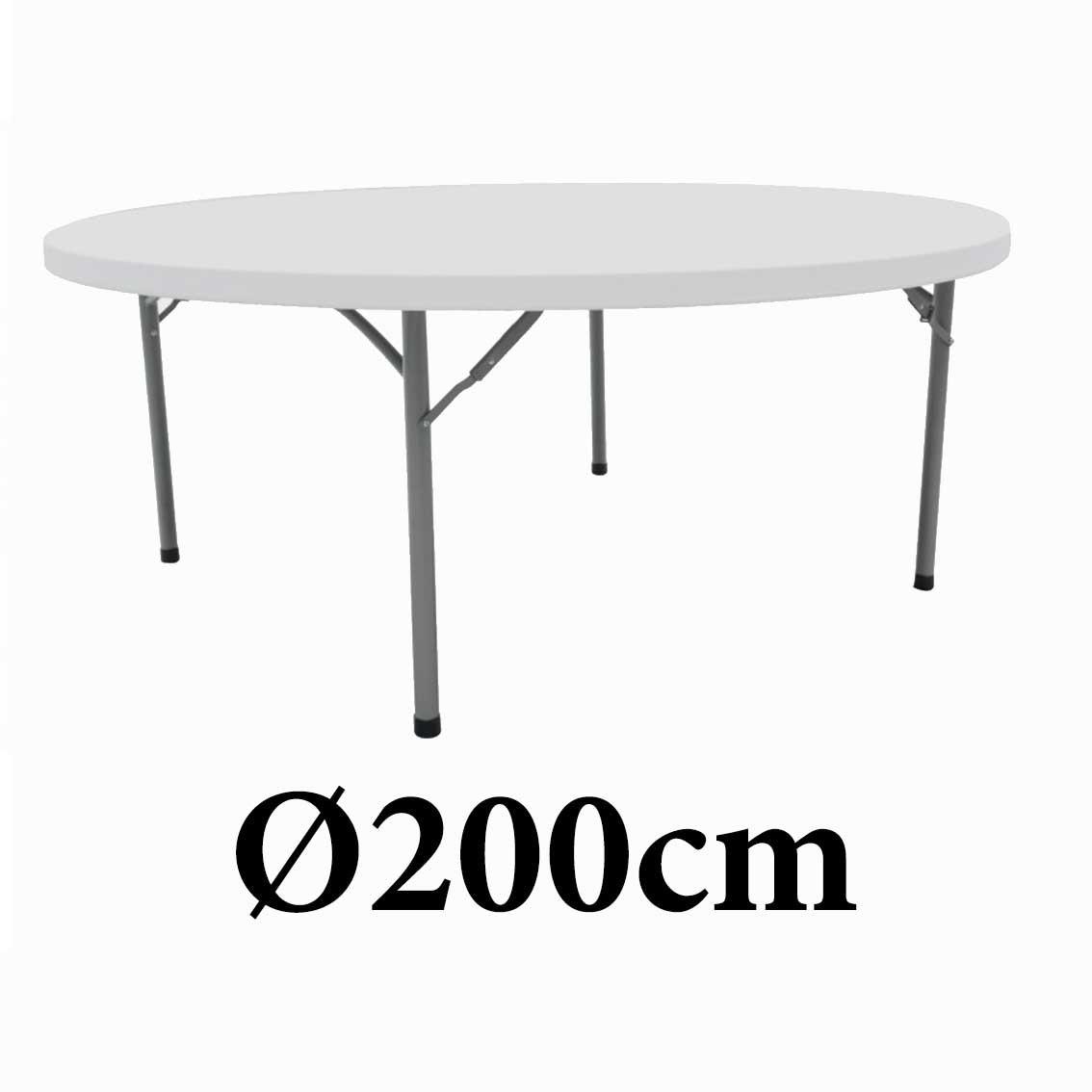 Πτυσσόμενο τραπέζι στρογγυλό Monaco 200