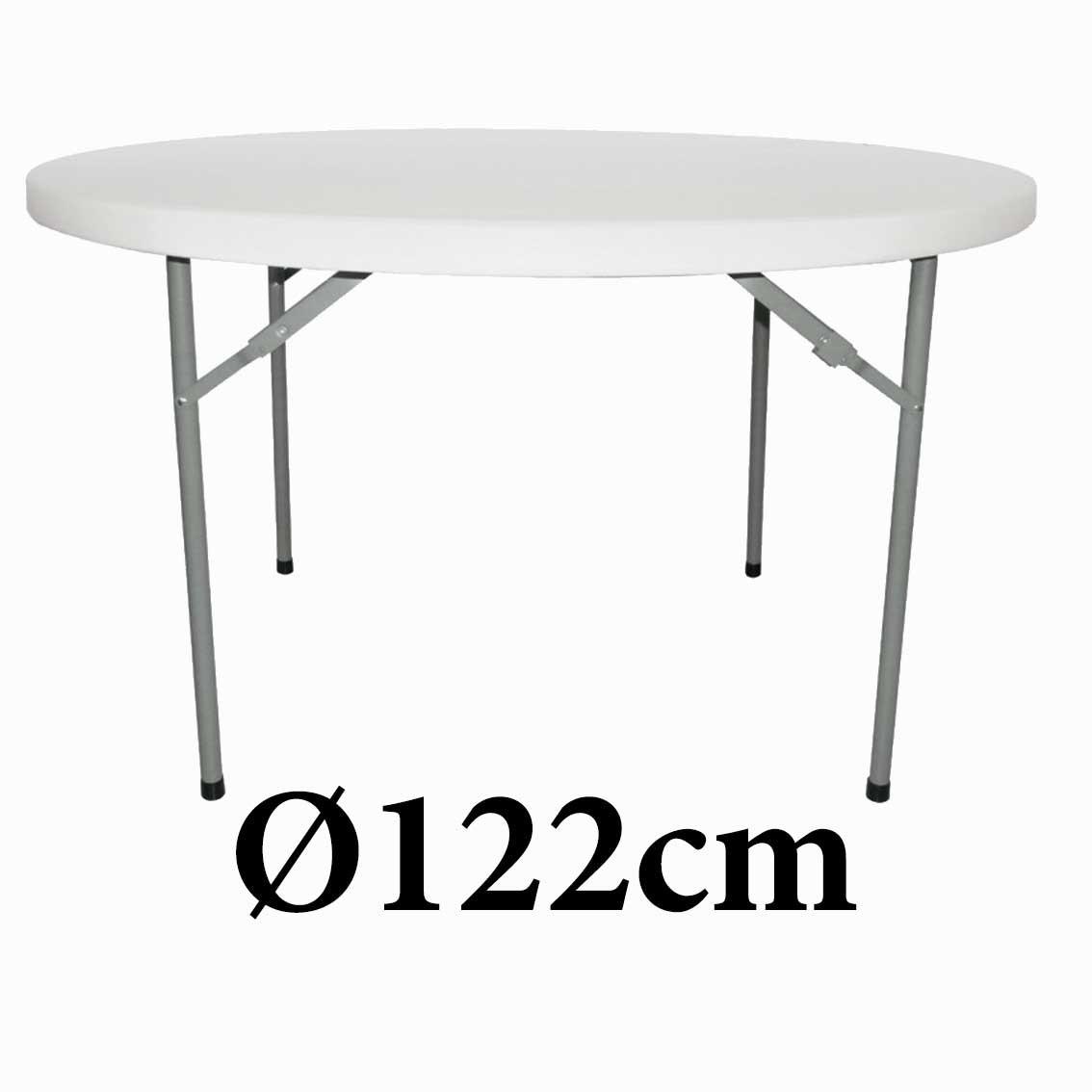 Πτυσσόμενο τραπέζι στρογγυλό Paris 120