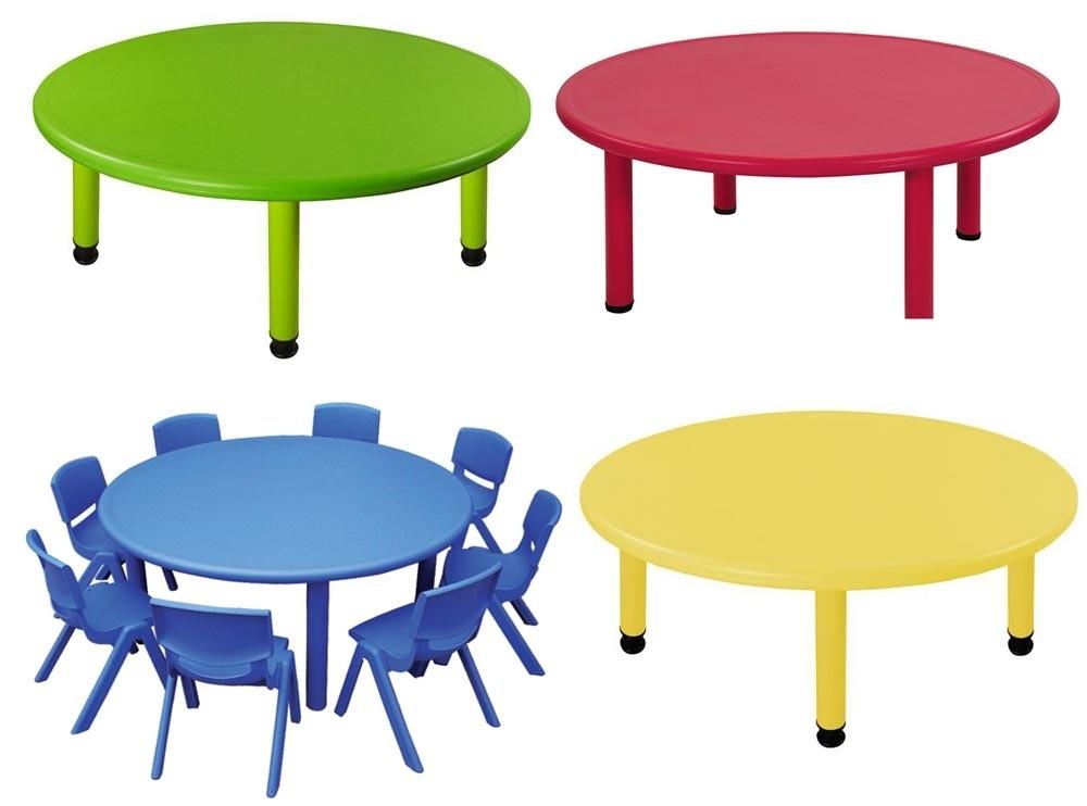 Παιδικό τραπέζι Στρογγυλό σε 4 χρώματα