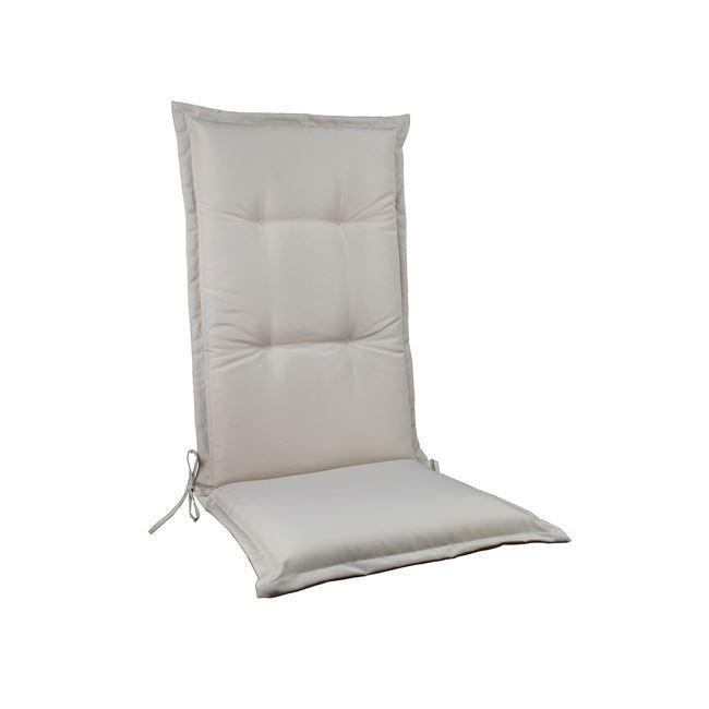 Μονοκόμματο μαξιλάρι Flap για καρέκλα με πλάτη 72cm σε χρώμα Sandy