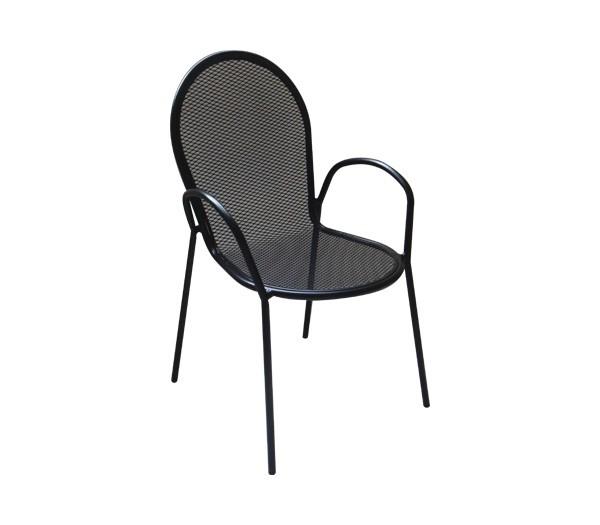 Μεταλλική καρέκλα Antico Μαύρη