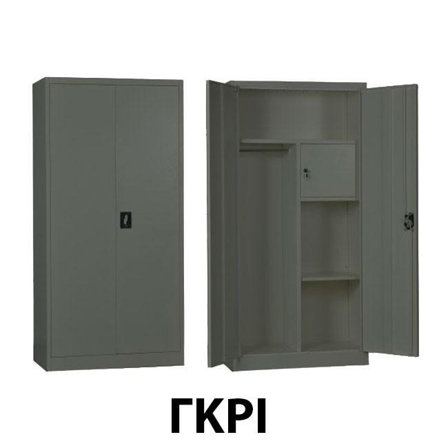 Μεταλλικό ντουλάπι Ντουλάπα ρούχων με έξτρα κλειδαριά εσωτερικά 90εκ - Γκρι