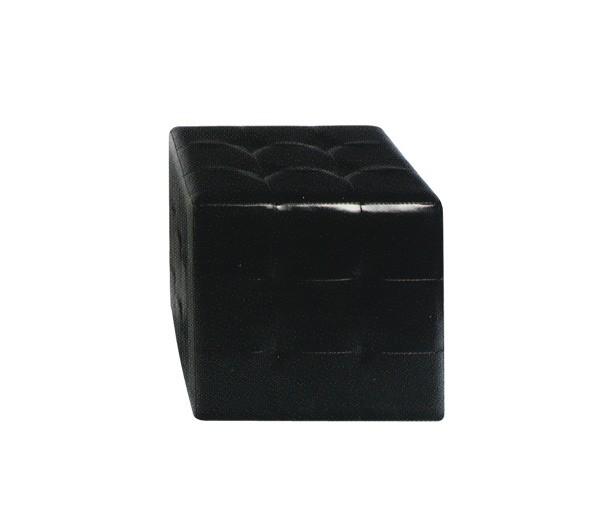 Σκαμπό με PU Cony Μαύρο