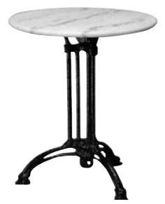 Τραπέζι με Μάρμαρο Στρογγυλό Τρίνυχο Ø60