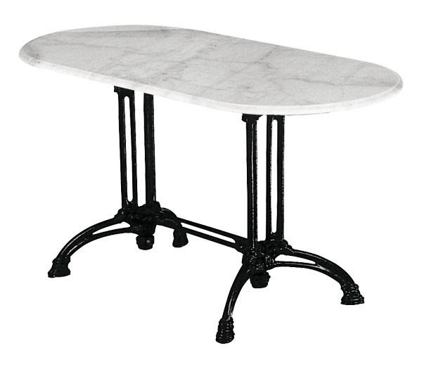 Τραπέζι με Μάρμαρο Αίθριο Οβάλ 70x110cm