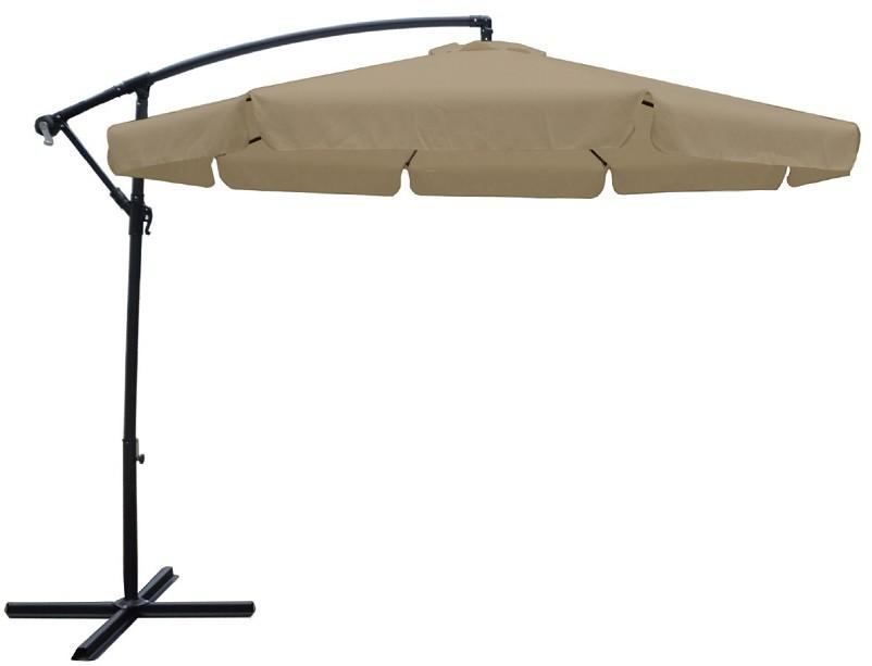 Κρεμαστή Ομπρέλα αλουμινίου Ø3m με γρύλο και ύφασμα Polyester 180gr σε Μπεζ