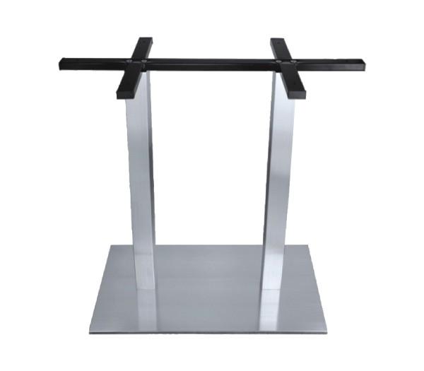 Μεταλλική βάση για μακρόστενο τραπέζι ανοξείδωτη Inox 201 Epsilon Διπλή EM66,1