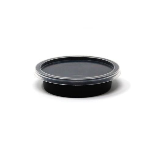 Σωσάκι με καπάκι 70ml συσκευασία 50τμχ - Μαύρο