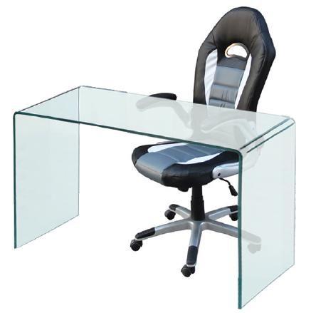 Γυάλινο Γραφείο 120x60cm Glasser Διάφανο