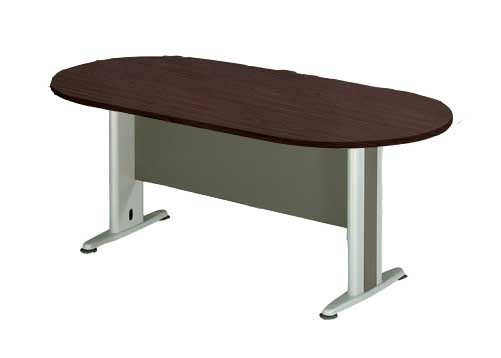 Επαγγελματικό γραφείο τραπέζι συνεδρίου Οβαλ Q-series Wenge 240