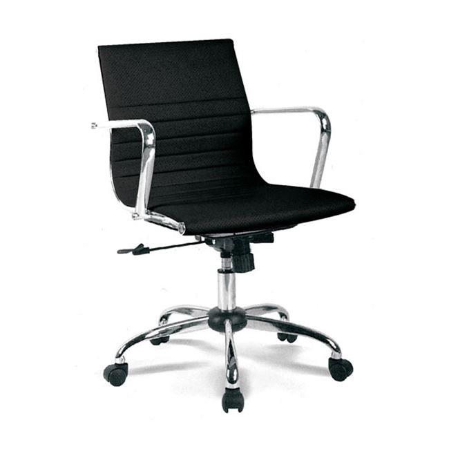 Περιστρεφόμενη καρέκλα γραφείου με μεταλλικό πόδι BF4501 Μαύρη