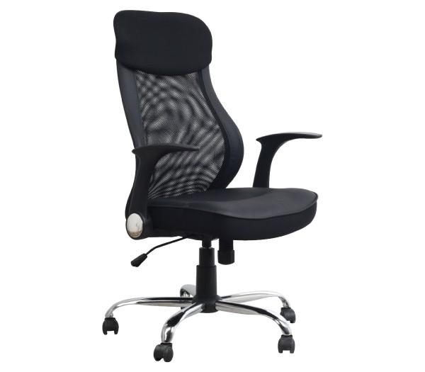 Πολυθρόνα Διευθυντή με μεταλλικό πόδι BF3800 Black