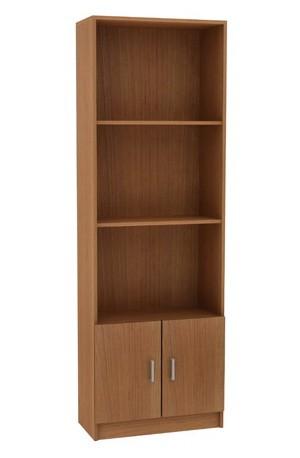 Βιβλιοθήκη 60cm με ντουλάπι και 3 ράφια Decon Κερασί