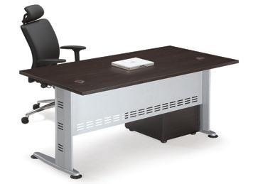 Επαγγελματικό γραφείο μελαμίνης με μεταλλικά πόδια Q-series Wenge 120cm