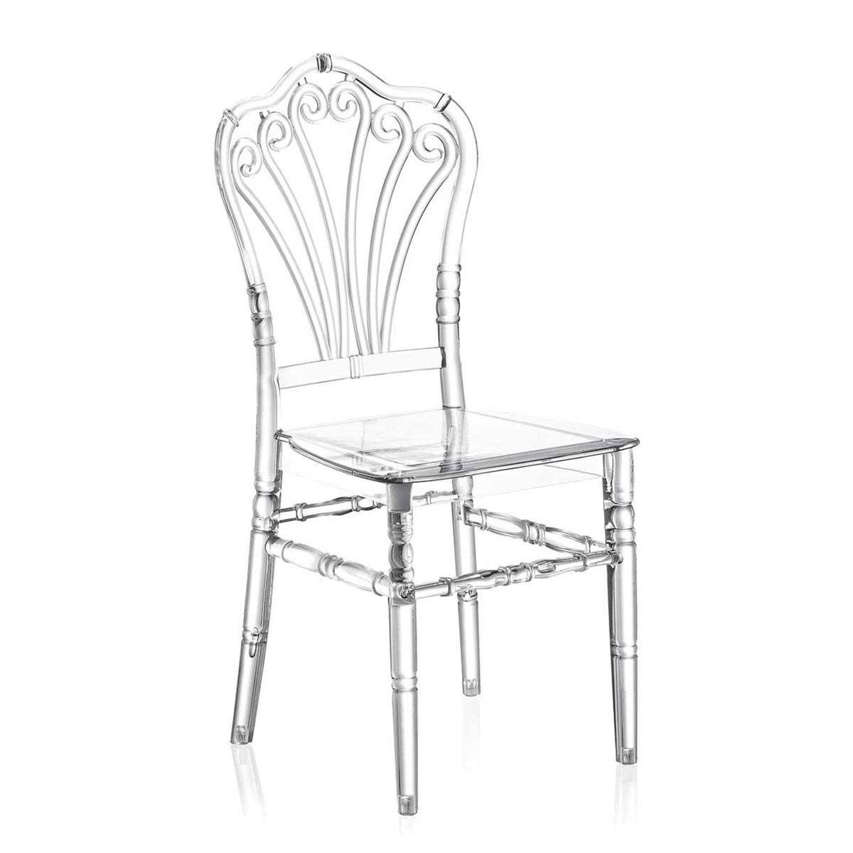 Καρέκλα για δεξιώσεις και γάμους Tilia Flora PC Διάφανη