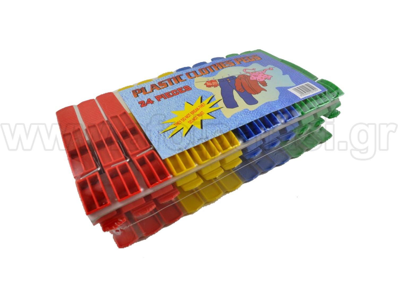 Μανταλάκια Πλαστικά 24 τεμάχια