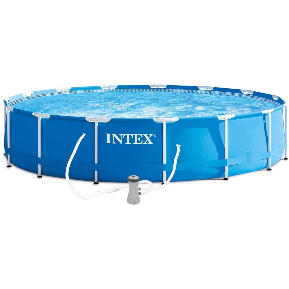Πισίνα επιφανείας με μεταλλικό σκελετό Ø457 Intex Metal frame 28242
