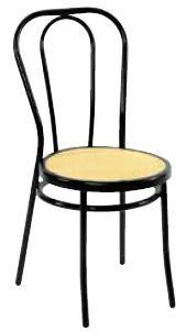 Μεταλλική καρέκλα Βιέννης Μαύρη