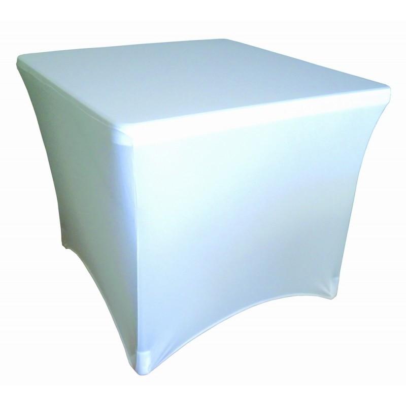 Ελαστικό κάλυμμα Stretch για τραπέζι Peru 86x86cm Λευκό