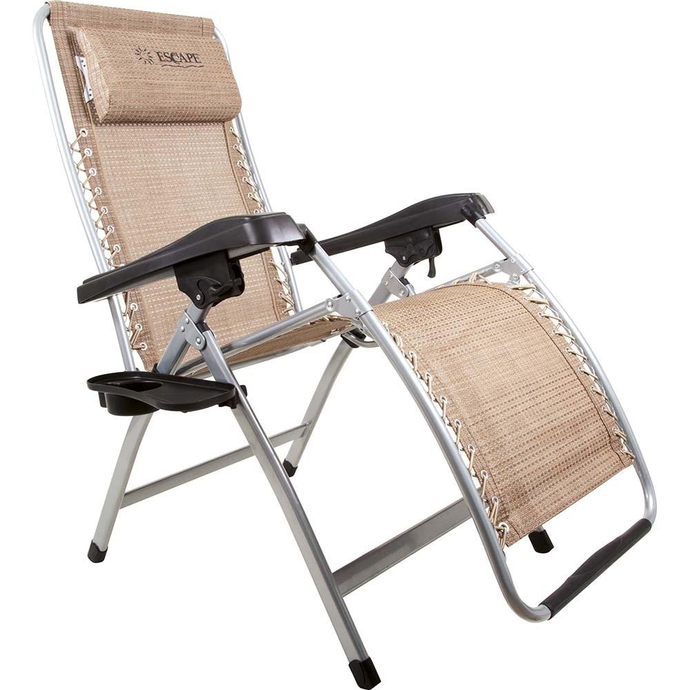 Πτυσσόμενη καρέκλα Relax πολλαπλών θέσεων με ψηλή πλάτη και υποπόδιο 150kg Escape 15575