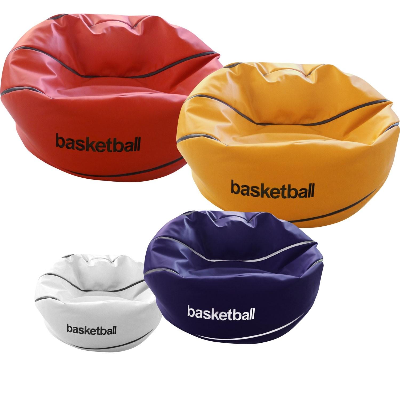 Κάθισμα πουφ μπάλα Μπάσκετ από Δερματίνη σε 4 διαστάσεις