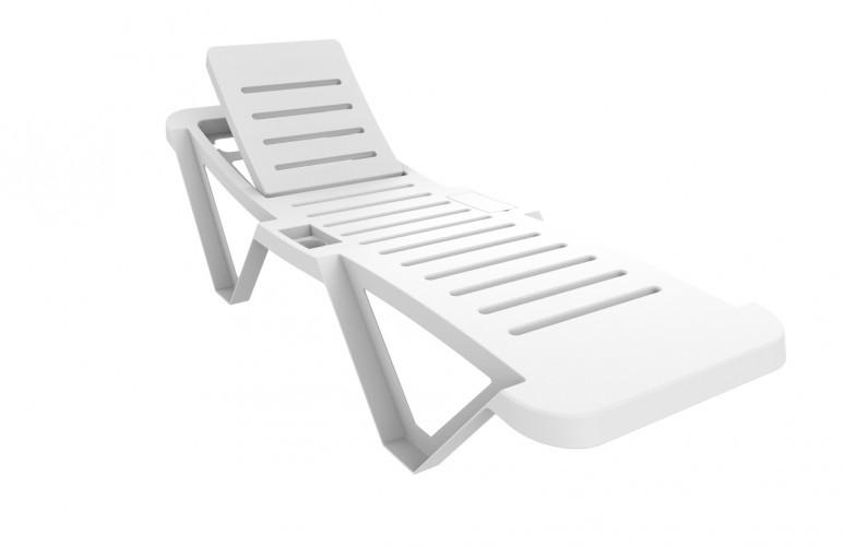 Στοιβαζόμενη Πλαστική ξαπλώστρα Resol Master 2020 Λευκή