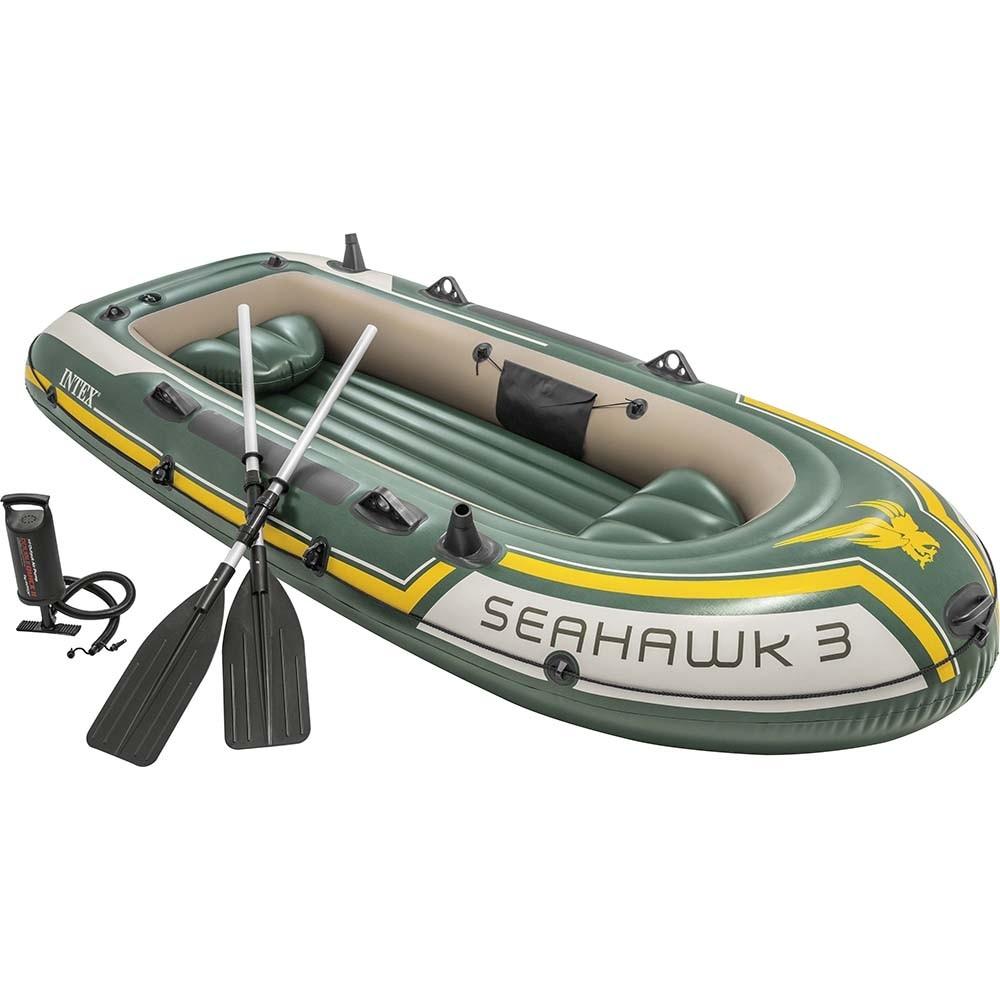 Φουσκωτή βάρκα Intex Sport series Seahawk 3 σετ με κουπιά και τρόμπα 68380