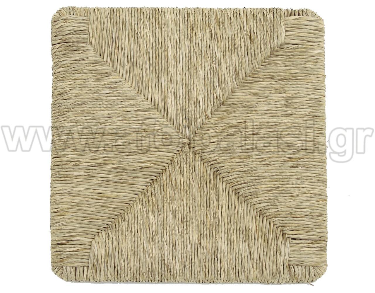 Τετράγωνο κάθισμα τελάρο φυσικής ψάθας 614 σε πράσινη απόχρωση - Διάσταση: 37x37cm