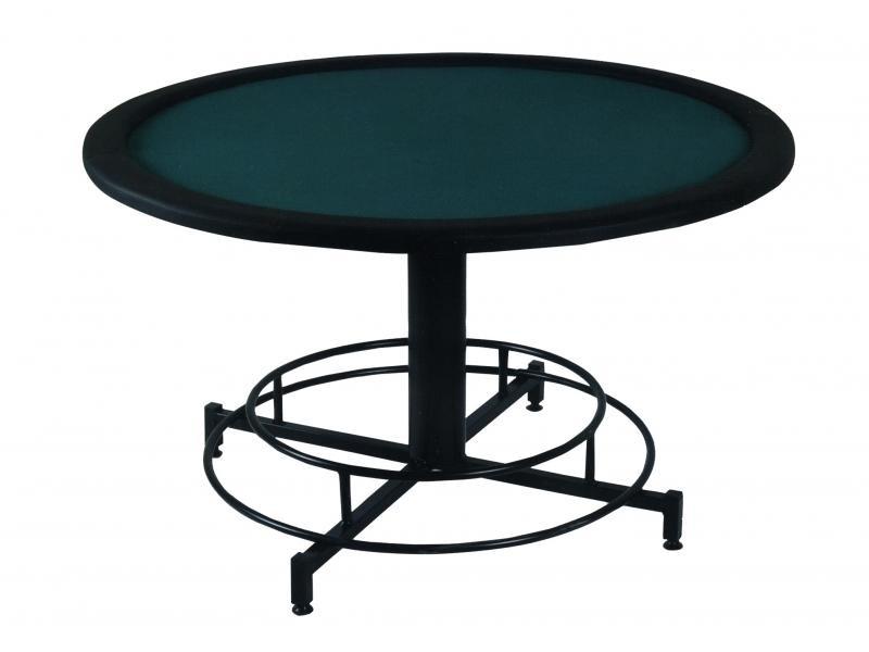 Επαγγελματικό τραπέζι Poker με επιφάνεια τσόχας και τεχνόδερμα PU περιμετρικά διάσταση Ø140cm