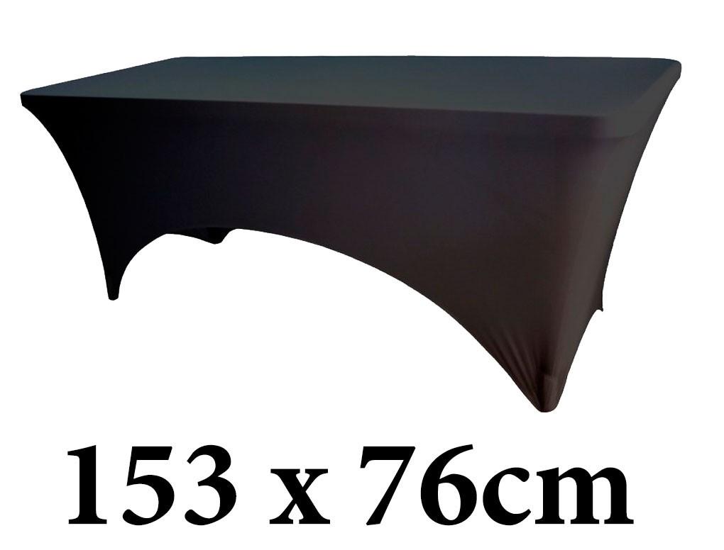 Ελαστικό κάλυμμα Stretch για μακρόστενο τραπέζι 153x76cm Μαύρο