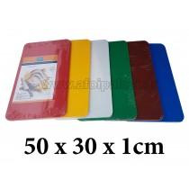 Πλάκα κοπής πολυαιθυλενίου Taurus 50x30x1cm σε 6 χρώματα